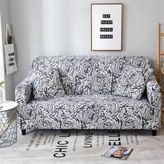 2018新款小清新风格系列沙发套 沙发套单人(规格90-140CM) 凤尾黑