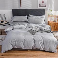 2019新款-铂金棉四件套 三件套1.2m(4英尺)床 米卡-灰