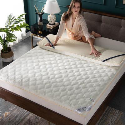 美真家纺 2018新款纯棉抗菌床垫(大尺寸) 120cmx200cm 米白色
