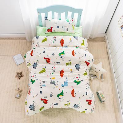 2019新款经典款儿童三件套-恐龙绿 单枕套30*50cm 恐龙绿
