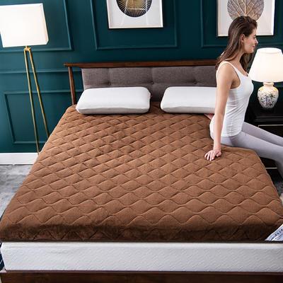 美真绒类一:素色宝宝绒床垫 90*200 棕色(6cm)