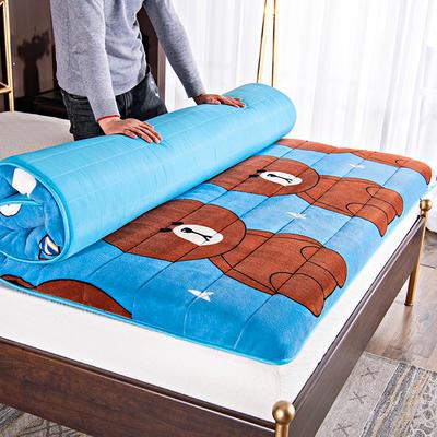 绒类二:卡通宝宝绒成人床垫 90*200 熊熊(6cm)