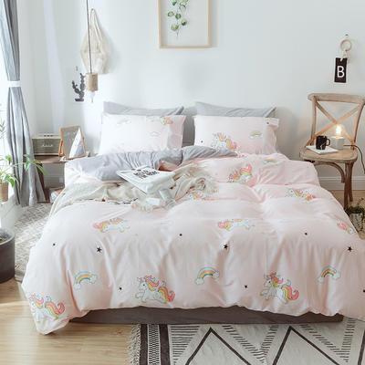 2018新款A棉B水晶绒棉加绒保暖套件四件套 1.5-1.8m 床 暖暖