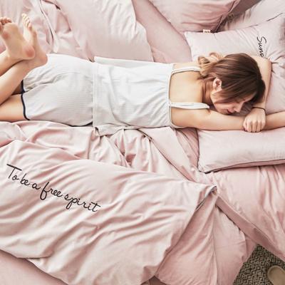 2019新款-丽丝绒刺绣四件套 1.5m-1.8m床(床单款) 粉