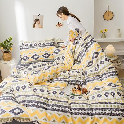 2020新款全棉印花小清新四件套套件 1.5m床单款四件套 波西米亚