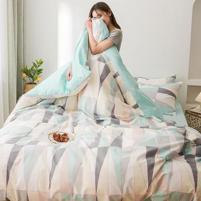 2020新款全棉小清新套件 1.2m床单款三件套 几何
