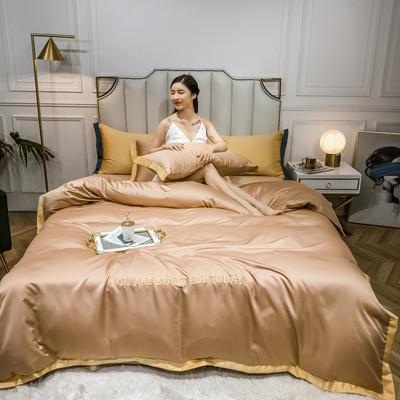 2020新款水洗真丝刺绣款四件套 1.2m床单款三件套 米驼