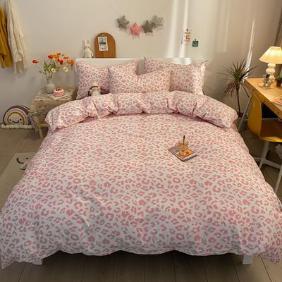 2021新款40s全棉印花卡通可爱少女风四件套 1.5m床单款四件套 粉色浪漫