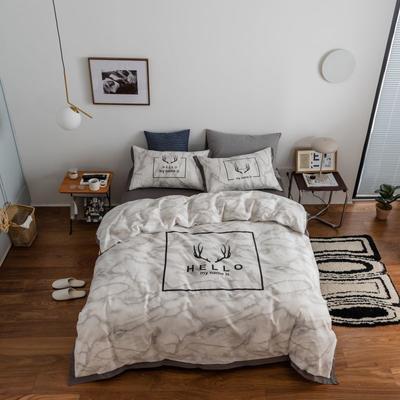 2021新款家居北欧工艺款四件套 1.2m床单款三件套 大理石