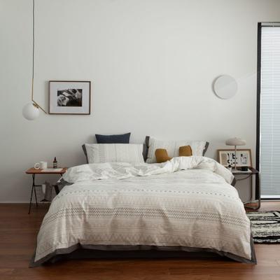 2021新款家居北欧工艺款四件套 1.8m床单款四件套 素写