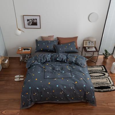 2021新款家居北欧工艺款四件套 1.8m床单款四件套 银河