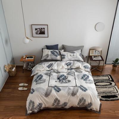 2021新款家居北欧工艺款四件套 1.2m床单款三件套 羽叶