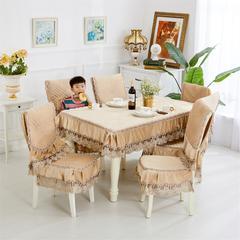 2018新款-荷兰绒餐椅垫 椅垫 前程似锦-棕-中式