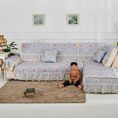 2018新款-棉麻沙发垫 抱枕45*45cm 花好月圆-灰