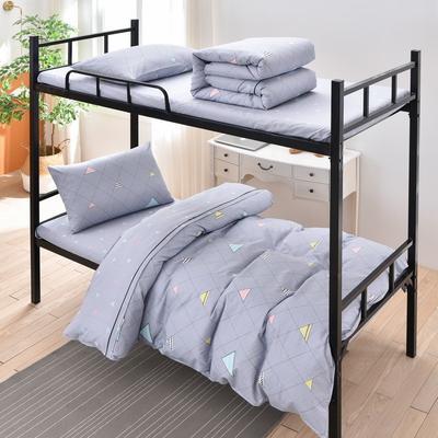 2020新款新款全棉13372学生宿舍三件套 0.9m床单款两件套 优雅主义