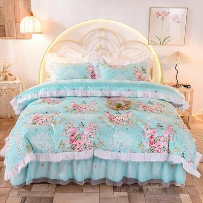 2020新款韩版13372全棉四件套 1.5m床裙款三件套 清凉一夏