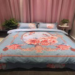 2019新款 北极绒贡棉磨毛四件套 1.5m(5英尺)床 胭脂梦