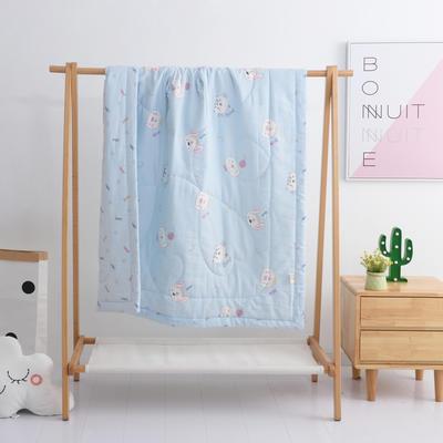 2019新品全棉双层纱布夏被 双层纱布夏被丝棉款150x120cm 宠物天地-蓝