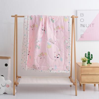 2019新品全棉双层纱布夏被 双层纱布夏被丝棉款150x120cm 童话乐园-粉