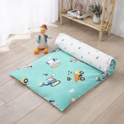 2020新款60支贡缎儿童床褥+床垫芯 60*135cm单床褥 挖掘机