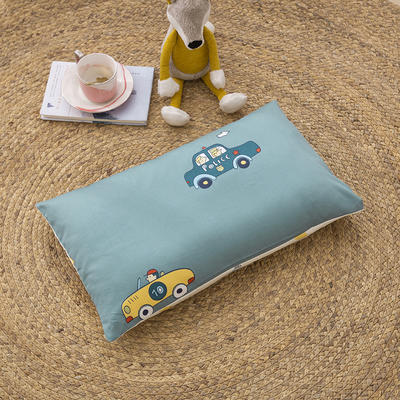 2020新款60贡缎儿童单枕套+枕芯 30*50cm单枕套 小汽车