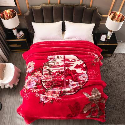 2019新款越细柔天丝云毯 200cmx230cm(3.4斤) 夜未央-红