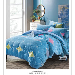 2018魔幻绒面料 宽幅240cm 格调色彩-蓝