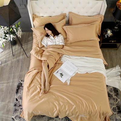2019新款水洗真丝四件套 1.5m(5英尺)床(床笠款) 香槟金