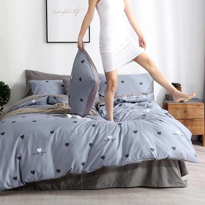 2019新款13372全棉四件套 标准105元 1.2m床(床单款)三件套 想念