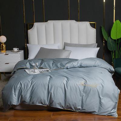 2020新款全棉40刺绣单被套 180x220cm 纯色-梵星蓝