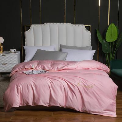 2020新款全棉40刺绣单被套 180x220cm 纯色-粉色
