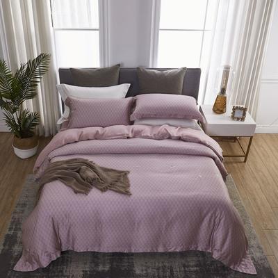 2019新款60S兰精天丝绣色系列四件套 1.8m(6英尺)床 圣菩提 紫