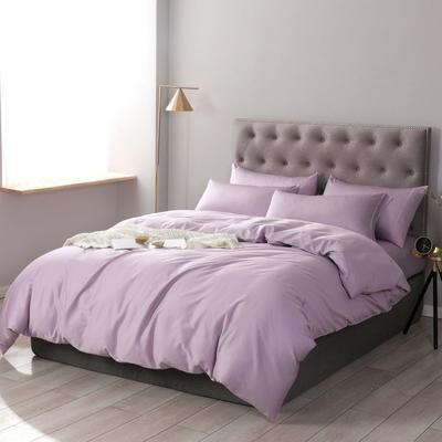 2019新款60S全工艺长绒棉五彩纯净系列四件套 1.8m(6英尺)床 优雅紫