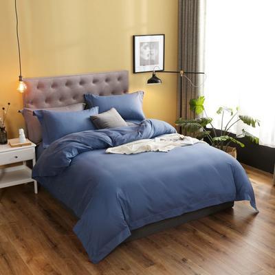 2019新款80S磨毛貢緞暖絨系列四件套 1.8m(6英尺)床 邂逅-海藍
