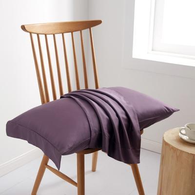 2019新款60S长绒棉舞彩单品枕套 枕套/对 冷艳紫