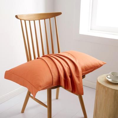 2019新款60S长绒棉舞彩单品枕套 枕套/对 珊瑚橙