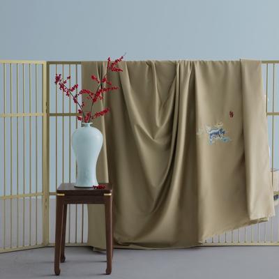 2020新款60S长绒棉贡缎如意绣色系列四件套 1.8m床单款四件套 如意▪麒麟
