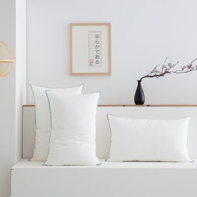 2020秋冬新款七星撞色枕枕头枕芯 47*73cm白色