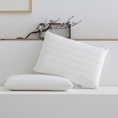 2020秋冬新款日式绗缝枕枕头枕芯 47*73cm白色