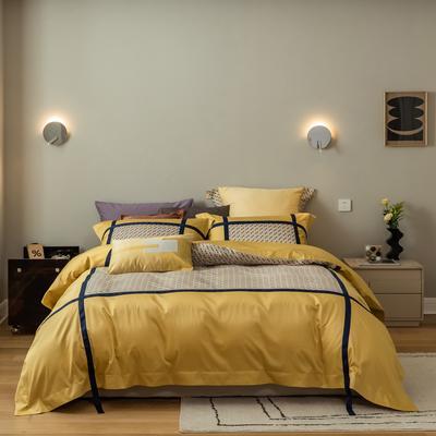 2021新款宝格丽四件套 1.8m床单款四件套 黄