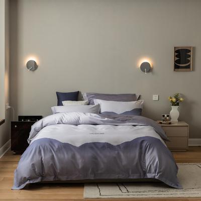 2021新款-100s数码印花四件套 1.5m(5英尺)床 画卷紫