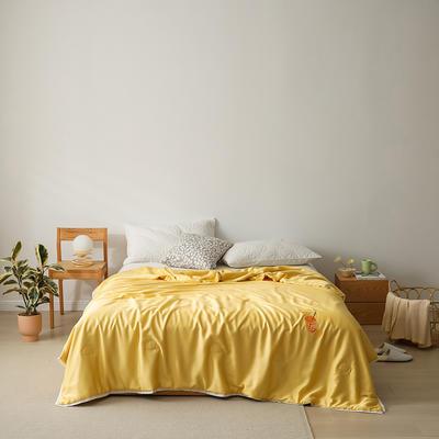 2021新款柠檬之夏小香被 220x240cm 美丽黄