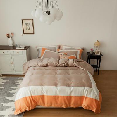 100S天丝棉简奢系列-飞扬 1.8m(6英尺)床 飞扬 橙