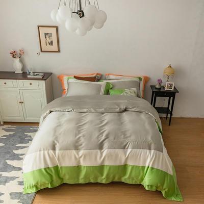 100S天丝棉简奢系列-飞扬 1.5m(5英尺)床 飞扬 绿