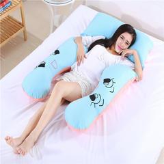 2018新款-绣花孕妇枕(146*85cm) 绣花  蓝玉