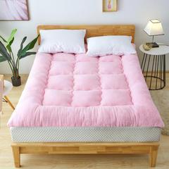 2018新款-羊羔绒床垫 90*200cm四斤 粉色