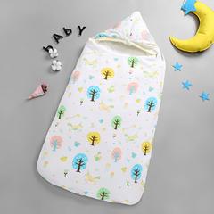 婴儿睡袋 夹棉冬季被子  信封抱被 新生儿襁褓巾抱被 大森林