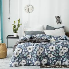 2018新款水洗棉冬被 150x200cm4斤 花香满园