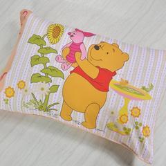 2018新款-纯棉卡通枕套学生儿童枕套全棉宝宝婴儿单只装 蜜罐维尼