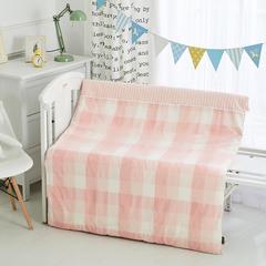 2018水洗棉儿童被子纯棉加厚保暖童被婴儿被子冬被宝宝被子冬天盖被120-150cm 1.2m(4英尺)床 单被套粉格